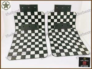 MILITARY WILLYS JEEP MUD FLAP IN VINTAGE CHESS LOOK SET OF 4