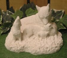 Timber Wolf Pack With Baby Pup Latex Fiberglass Production Mold Concrete Plaster