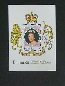 Dominica 1978 25th Ann Coronation MS miniature sheet MNH UM unmounted mint