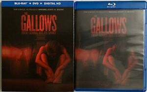 THE GALLOWS BLU RAY DVD 2 DISC SET + RARE OOP SLIPCOVER SLEEVE BUY IT NOW HORROR