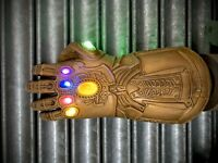 ADULT Thanos Infinity Gauntlet Glove for LED Light Glove Avengers 4 Movie Toy