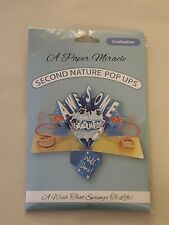A PAPER MIRACLE Second Nature Pop Ups GRADUATION CARD Royal Blue