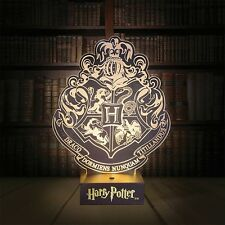 Harry Potter Hogwarts Crest Table Lamp Collectable Accent Light