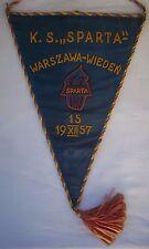 Orig.Spielwimpel  19.12.1957  SPARTA WARSCHAU - OLYMPIA WIEN / 39 cm  !  RARITÄT