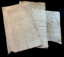 COLLECTION OF THREE DOCUMENTS 1600s - 12 pages