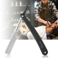 Classic Barber Straight Razor Cut Throat Shaving Salon Folding Black White Blade