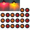 """20X Red Amber Mini 12V 3/4"""" Round Marker Light Clearance 3 LED Bullet"""
