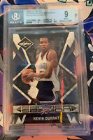 KEVIN DURANT 2009-10 LIMITED BANNER SEASON PATCH #D 4/5 BGS 9 MINT POP 1/1