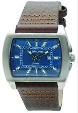 Kahuna Kus-0013g Mens Brown Leather Strap Watch