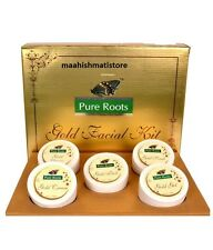 Pure Roots herbal Gold Facial kit Instant Glowing skin 100ml Free Shipping