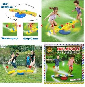 Spin & Jump Kids Junior Sprinkle N Splash Play Set Garden Water Fun Outdoor Game