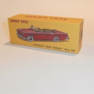Dinky Toys French  24A Chrysler New Yorker Empty Reproduction Box