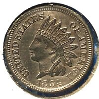 1864 1C Indian Cent, CN, Copper Nickel (58264)