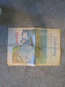 HAMM'S BEER OMAHA WORLD HERALD 1956 NEWSPAPER AD BREWERIANA NEBRASKA