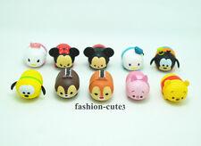 10 pcs Tsum Tsum Stack  mini Action Figures Mickey Minnie Donald Winnie the Pooh