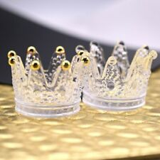 3D Retro Embossed Glass Crown Crystal Nail Art Brush Display Stand Holder Tool