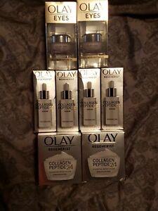 Olay® Regenerist Collagen Peptide 24 Face Moisturizer –1.7oz SERUM 1.3 lot 8 NEW