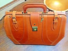 Leather Gladstone Doctor Bag / Travel Bag / Briefcase - Handmade In Canada
