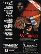 WITCHBOARD__Original 1987 print AD / horror movie promo__TAWNY KITAEN_Todd Allen
