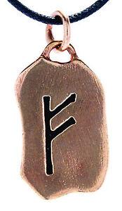 Rune Runen Anhänger Bronze Band/Kette Buchstabe F Fehu Feoh Rind Reichtum 87
