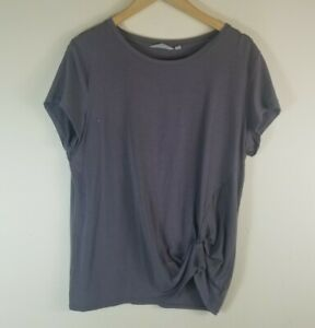 Athleta Ultimate Side Knot Tee Gray Style 157393 Large