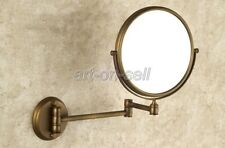Antique Brass Folding Arm Wall Mount Magnifying Cosmetic Bathroom Mirror aba627