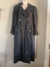Women's Vintage Jones New York Trench Coat, Black, Medium