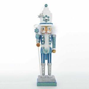 "Kurt Adler 17"" Hollywood Turquoise/White Nutcracker"