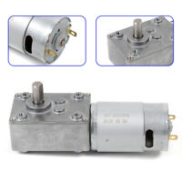 5±10% rpm 8mm Out Shaft Low Speed Electric High Torque Gear Motor Reversible 12V