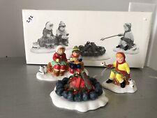 Department 56 Snow Village Marshmallow Roast Ceramic Figures