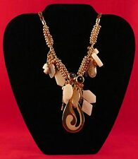 """Women's Statement Necklace Yin-Yang Tao Design Leather 20"""" Pier 1 Imports"""