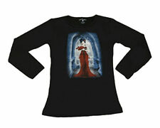 Waist Length Crew Neck Gothic T-Shirts for Women