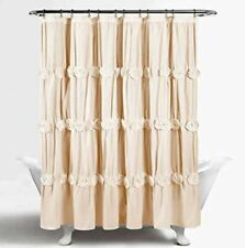 Lush Decor Darla 72 x 72 in Cream Shower Curtain