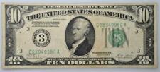1928-A #3. Philadelphia $10 federal reserve bank note , Fine+ FR# 2001C