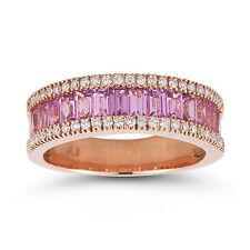 Sapphire Rose Gold 18 Carat Fine Rings