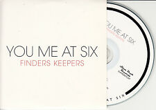 YOU ME AT SIX Finders Keepers 2009 UK 1-trk promo test CD Youmeatsix