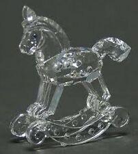 Swarovski Crystal Rocking Horse, Item 7479NR000001, New In Box