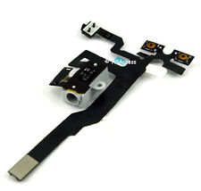 NEW WHITE HEADPHONE AUDIO JACK VOLUME FLEX CABLE REPLACEMENT FOR iPhone 4S