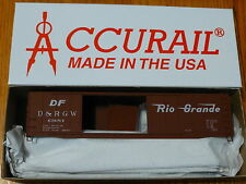 Accurail Ho #5205.1 (Rd #63684) D&Rgw (50' Dbl-Door Riv. Boxcar) Kit Form