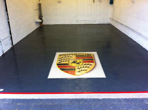 Rubber PVC Flooring heavy Interlocking Floor tile £16.65 ideal for Garage