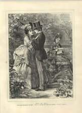 1871 prendre un risque sur un mariage WILKIE COLLINS SCENE OLD PRINT