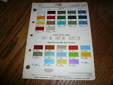 1972 Dodge Jeep Commercial Ditzler PPG Color Chip Paint Sample