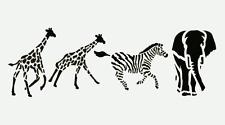 SAFARI STENCIL BORDER GIRAFFE ZEBRA ELEPHANT CRAFT ART STENCILS NEW BY CRAFTCO