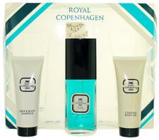 Royal Copenhagen For Men Set: EDC 1.5oz + Shower Gel 1.5oz + Body Gel 1.5oz
