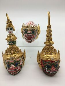 Thai Khon Mask Art Decor Collectible Handcraft