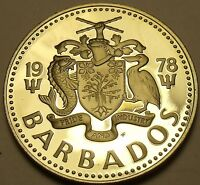 Cameo Proof Barbados 1975 10 Cents~Bonaparte Tern~Only 20,000 Minted~Free Ship