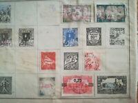 lot N°235 - 7 timbres Algérie à décoller 1911