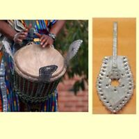 African Djembe Drum Shakers | Tribal Percussion Musical Instrument (Tuner)