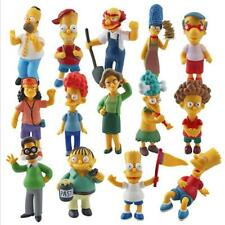 14pcs The Simpsons Family Action Figures Doll Kids Playset Toy Cake Topper Decor