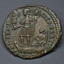 STUNNING BILLON  MAIORINA OF CONSTANS: EMPEROR / VICTORY. TRIER, AD 349-350. E.F